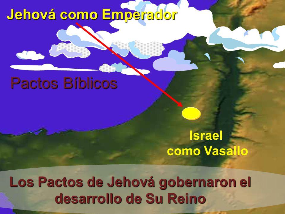 Pactos Bíblicos Israel como Vasallo Los Pactos de Jehová gobernaron el desarrollo de Su Reino Jehová como Emperador