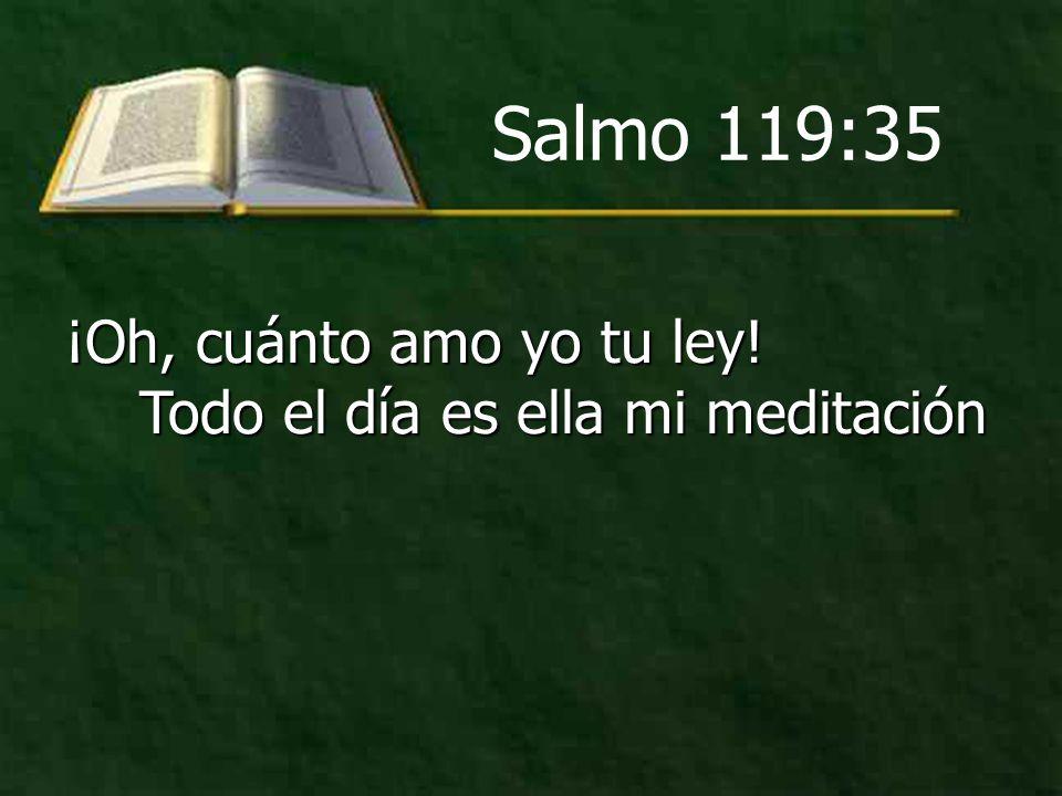 ¡Oh, cuánto amo yo tu ley! Todo el día es ella mi meditación Salmo 119:35