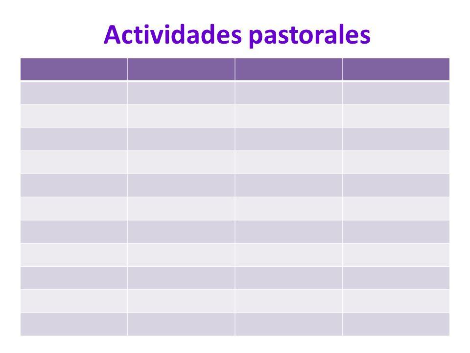Actividades pastorales