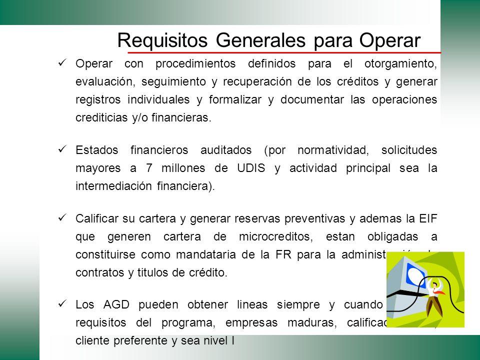Operar con procedimientos definidos para el otorgamiento, evaluación, seguimiento y recuperación de los créditos y generar registros individuales y fo