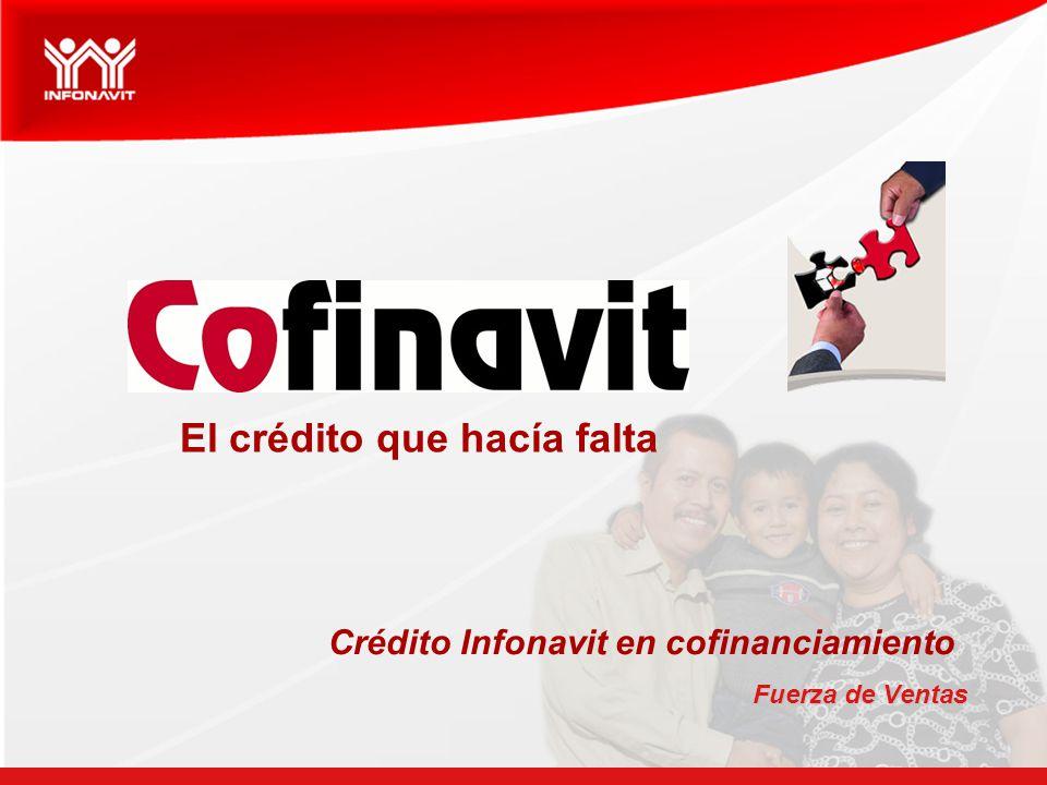 Fuerza de Ventas El crédito que hacía falta Crédito Infonavit en cofinanciamiento