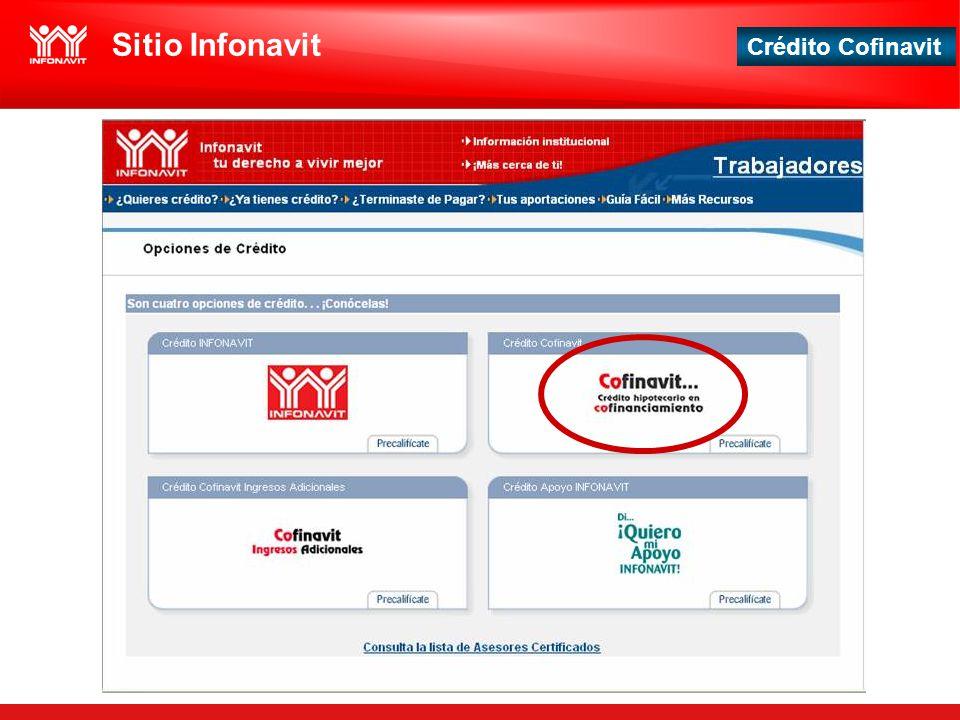 Crédito Cofinavit Sitio Infonavit