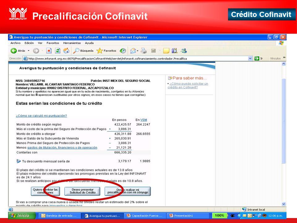 Crédito Cofinavit Precalificación Cofinavit