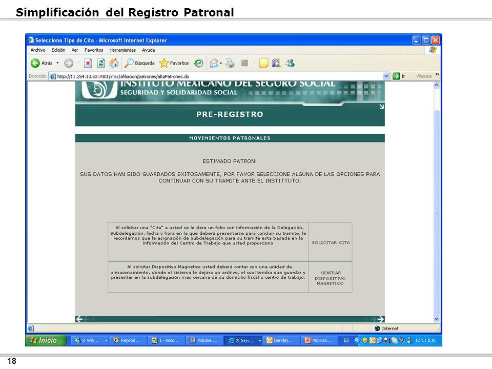 18 Simplificación del Registro Patronal