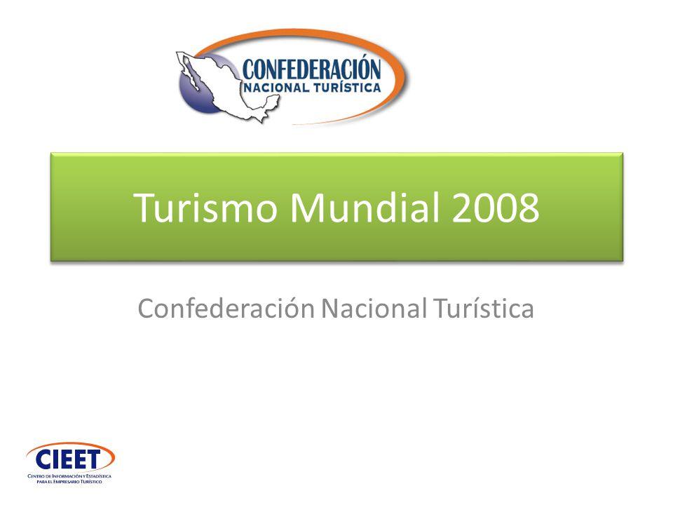 Llegadas a nivel regional 2008 (América del Norte) Fuente: OMT Barómetro turístico Fuente: OMT Barómetro turístico