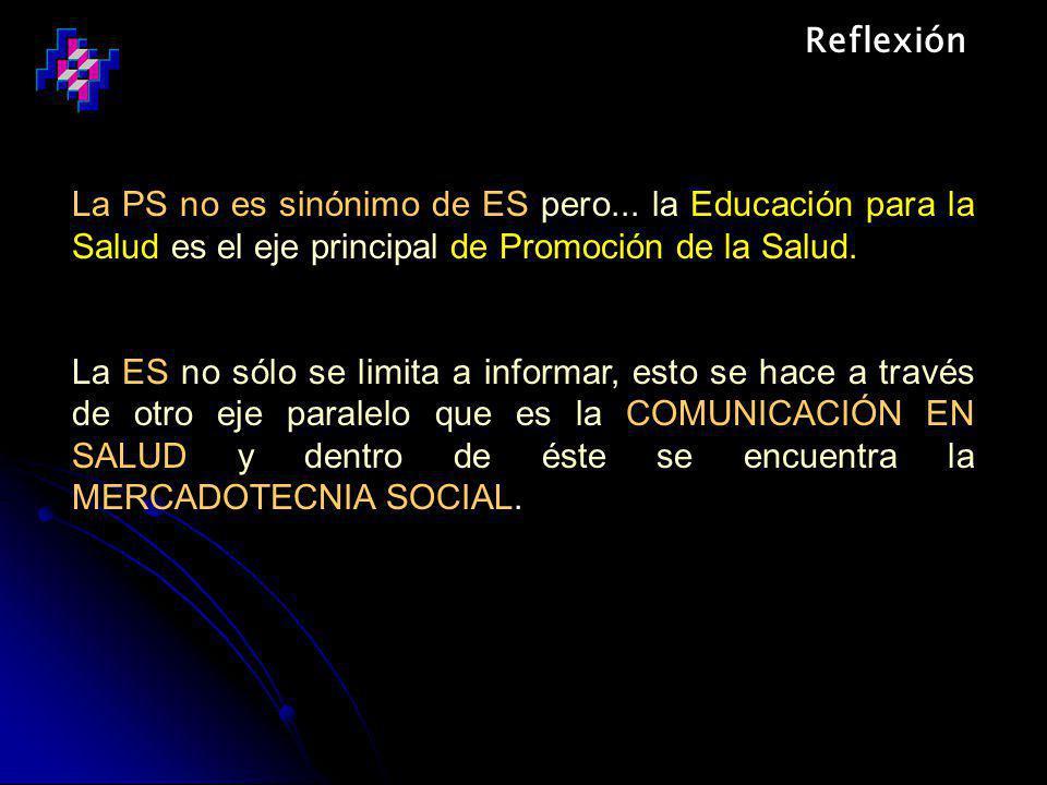 Reflexión La PS no es sinónimo de ES pero...