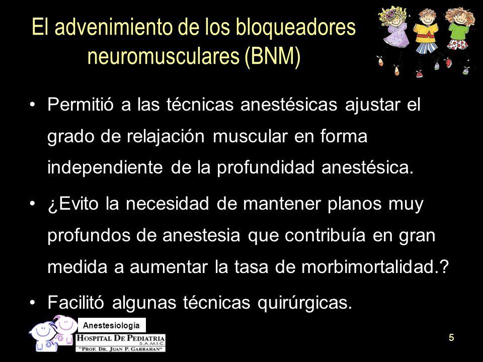 Anestesiologia El uso de relajantes musculares en el paciente pediátrico Es un tema controvertido.