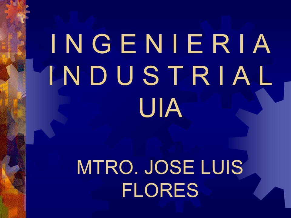 A N T E C E D E N T E S 18 julio 1956: Reunión en el Club de Industriales de México, para consultar y discutir la posibilidad de abrir la carrera de Ingeniería Industrial 1964: se funda la carrera de Ingeniería Industrial