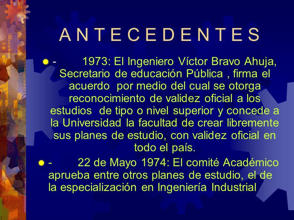 A N T E C E D E N T E S - 3 de Junio de 1974: En el acuerdo núm.