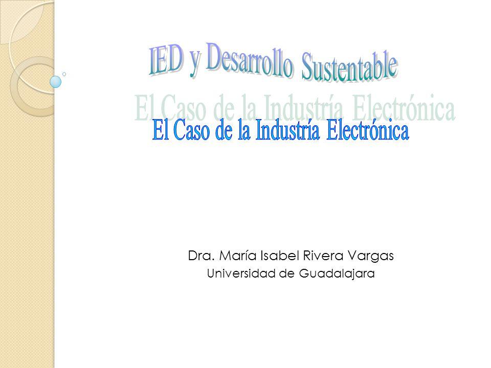 Dra. María Isabel Rivera Vargas Universidad de Guadalajara