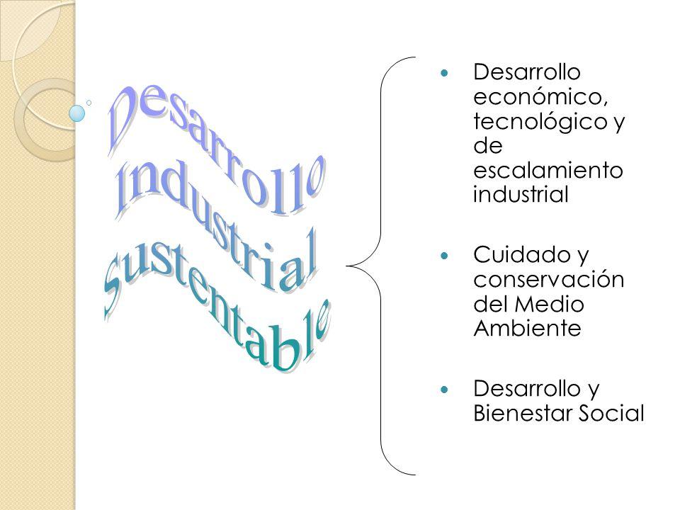 Desarrollo económico, tecnológico y de escalamiento industrial Cuidado y conservación del Medio Ambiente Desarrollo y Bienestar Social