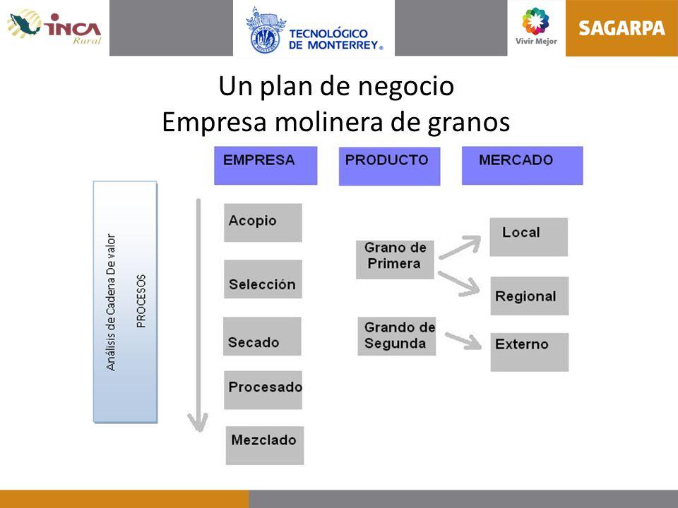 Un plan de negocio Empresa molinera de granos