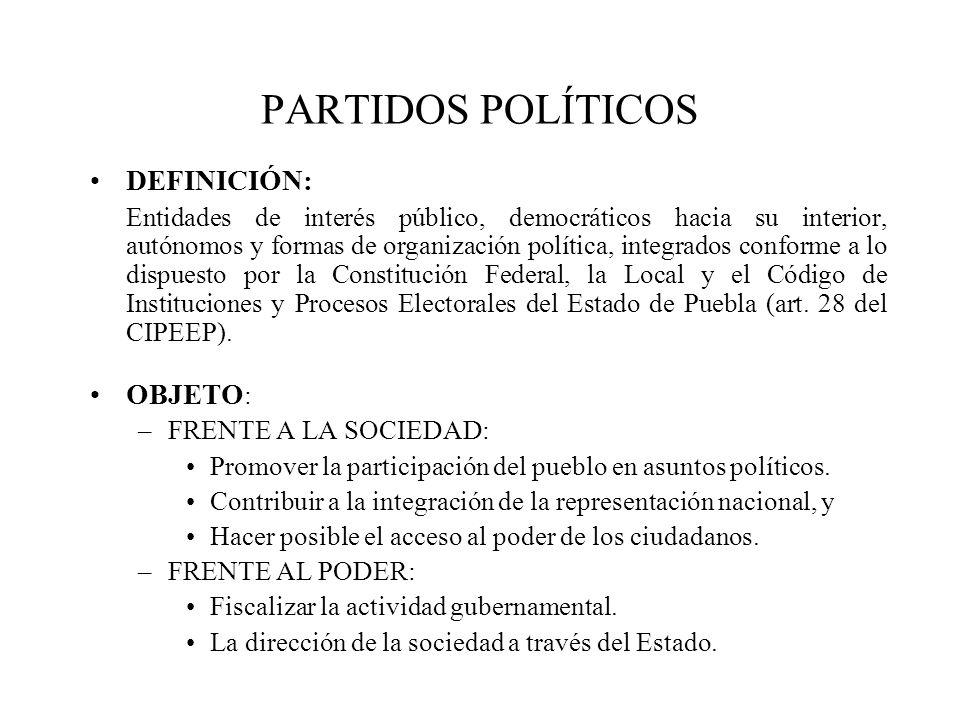 DEFINICIÓN: Entidades de interés público, democráticos hacia su interior, autónomos y formas de organización política, integrados conforme a lo dispue