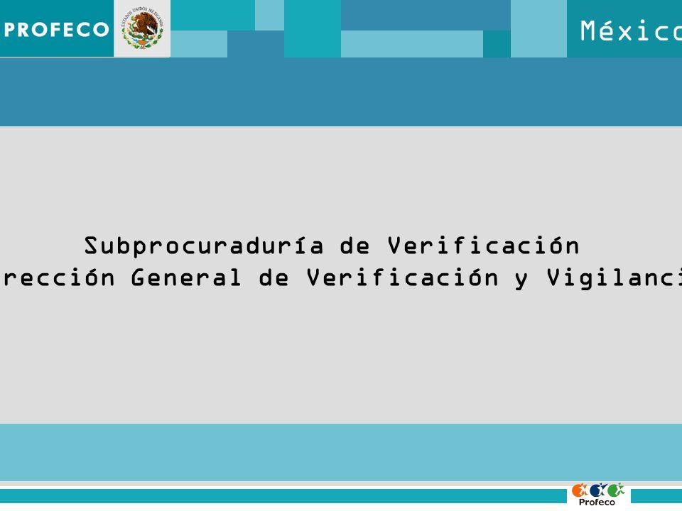 México Subprocuraduría de Verificación Dirección General de Verificación y Vigilancia
