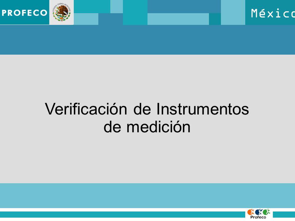 México Verificación de Instrumentos de medición