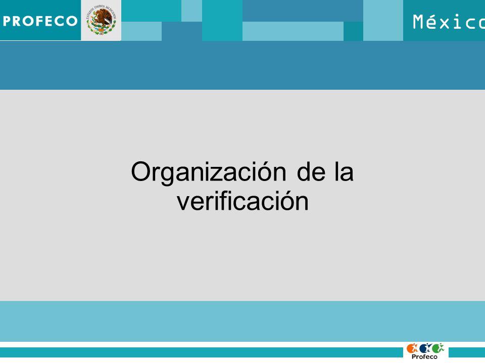 México Organización de la verificación