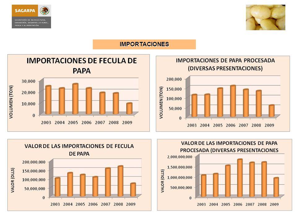 I NFORMACIÓN BÁSICA DEL P RODUCTO : La papa (solanum tuberosum L.) es originaria de América, específicamente de la región sur, en donde se ubica la zona andina, que comprende los países de Perú, Ecuador, Bolivia y Chile, aunque también se ha podido demostrar, que algunas variedades silvestres son originarias de México.