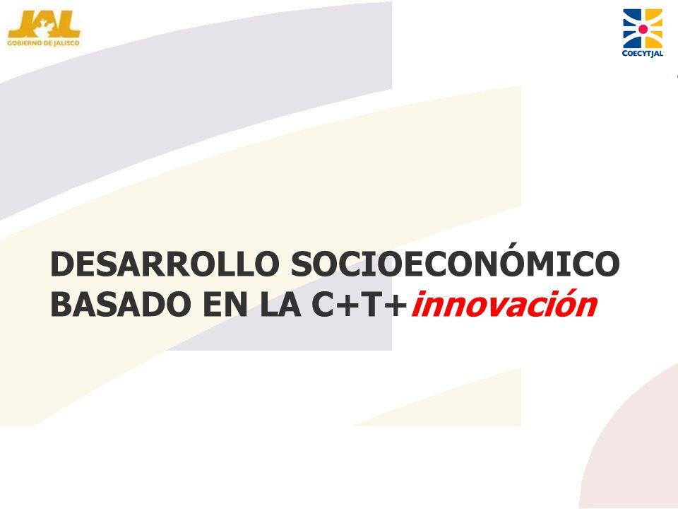 DESARROLLO SOCIOECONÓMICO BASADO EN LA C+T+innovación