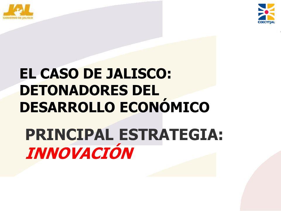 PRINCIPAL ESTRATEGIA: INNOVACIÓN EL CASO DE JALISCO: DETONADORES DEL DESARROLLO ECONÓMICO