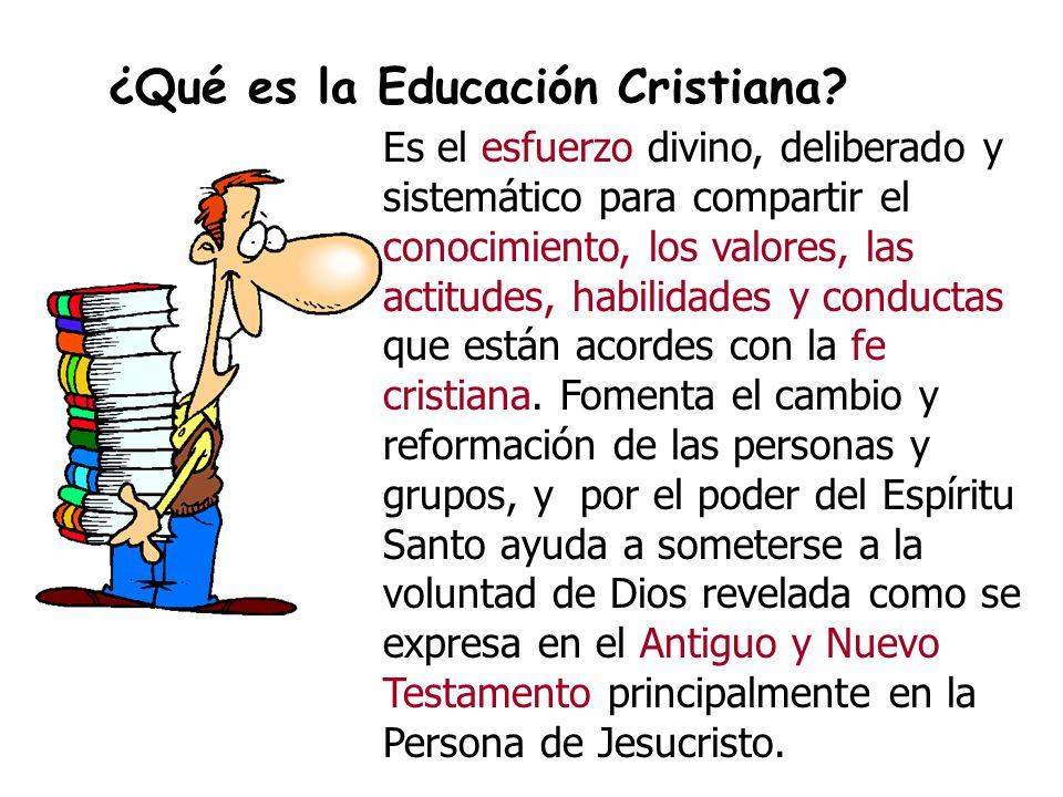 ¿Qué es la Educación Cristiana.