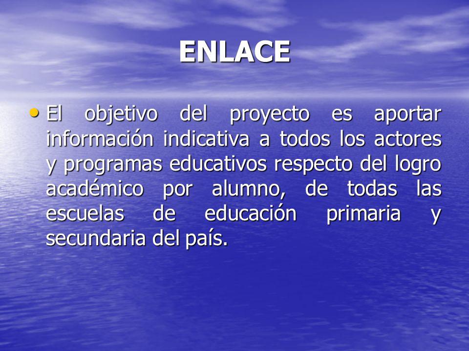 ENLACE ENLACE tiene un enfoque constructivo que considera la diversidad de actores y beneficiarios de la educación.