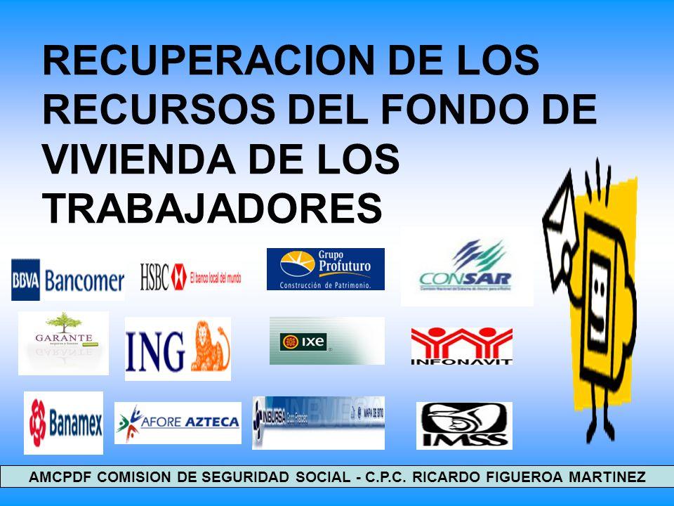 RECUPERACION DE LOS RECURSOS DEL FONDO DE VIVIENDA DE LOS TRABAJADORES 1 AMCPDF COMISION DE SEGURIDAD SOCIAL - C.P.C. RICARDO FIGUEROA MARTINEZ