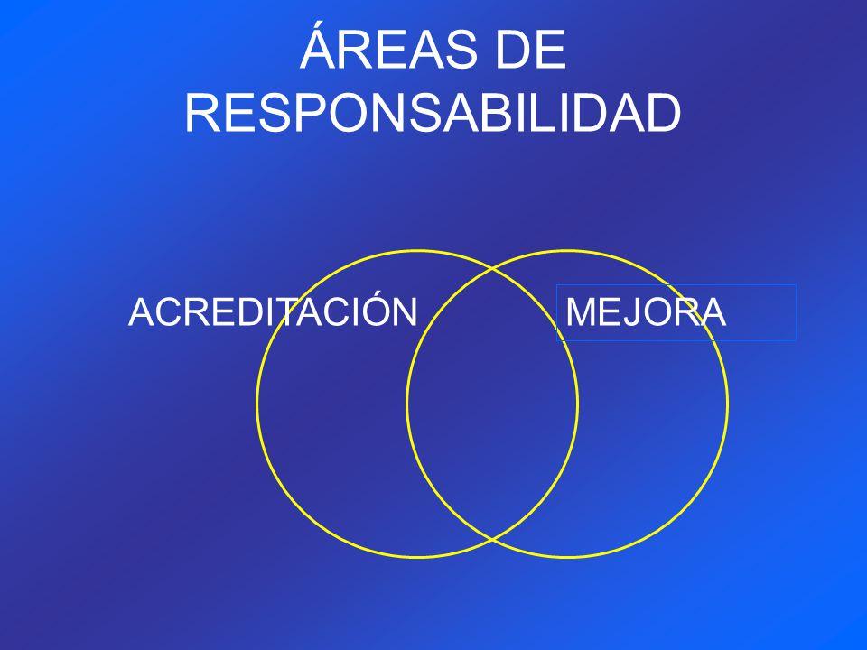 ÁREAS DE RESPONSABILIDAD ACREDITACIÓN MEJORA