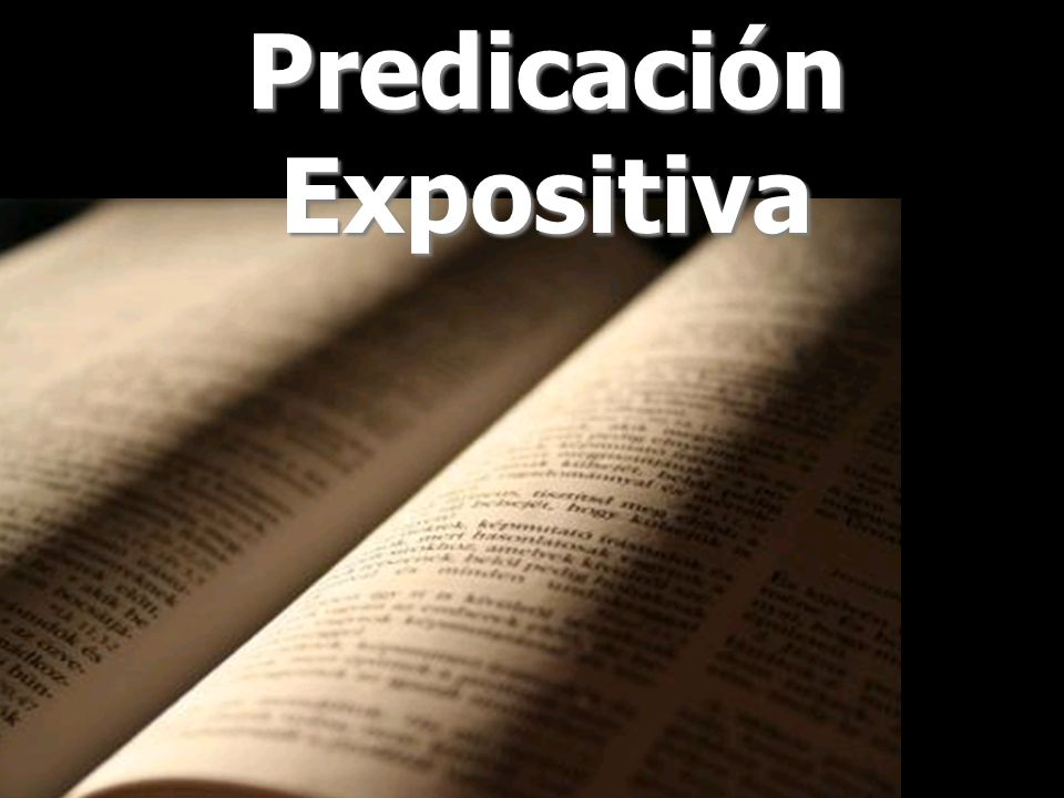 Predicación Expositiva