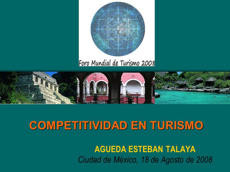 AGUEDA ESTEBAN TALAYA Ciudad de México, 18 de Agosto de 2008 COMPETITIVIDAD EN TURISMO