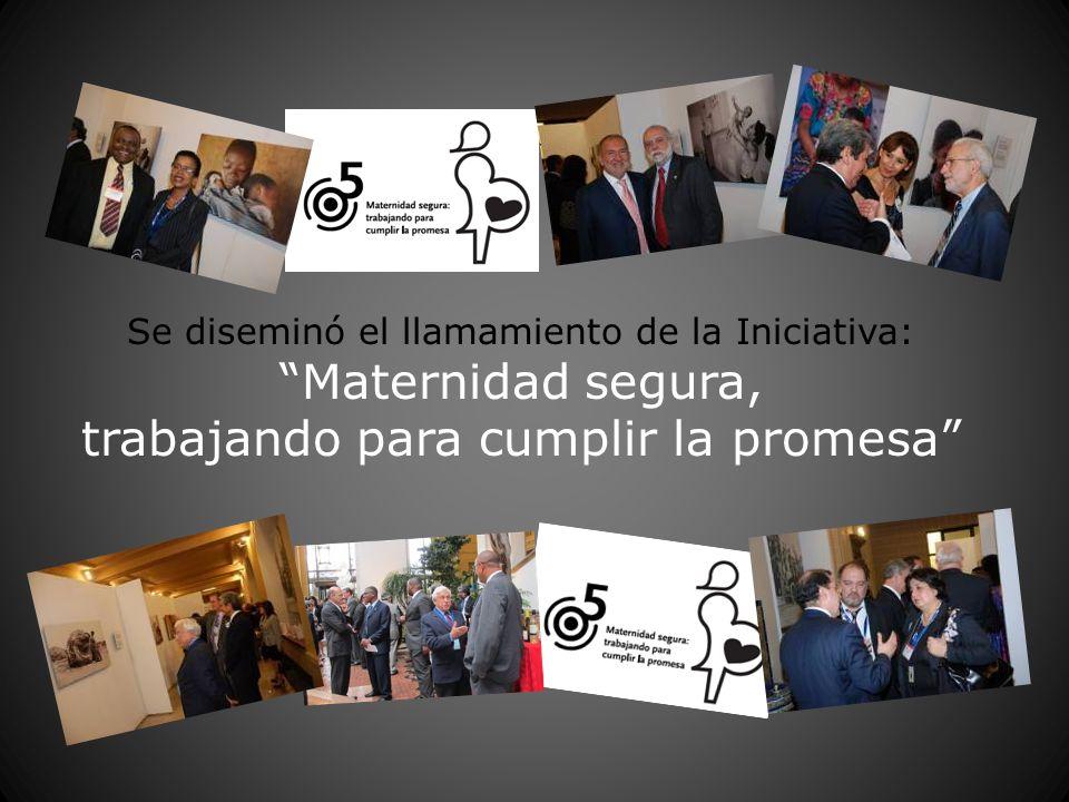 Se diseminó el llamamiento de la Iniciativa: Maternidad segura, trabajando para cumplir la promesa