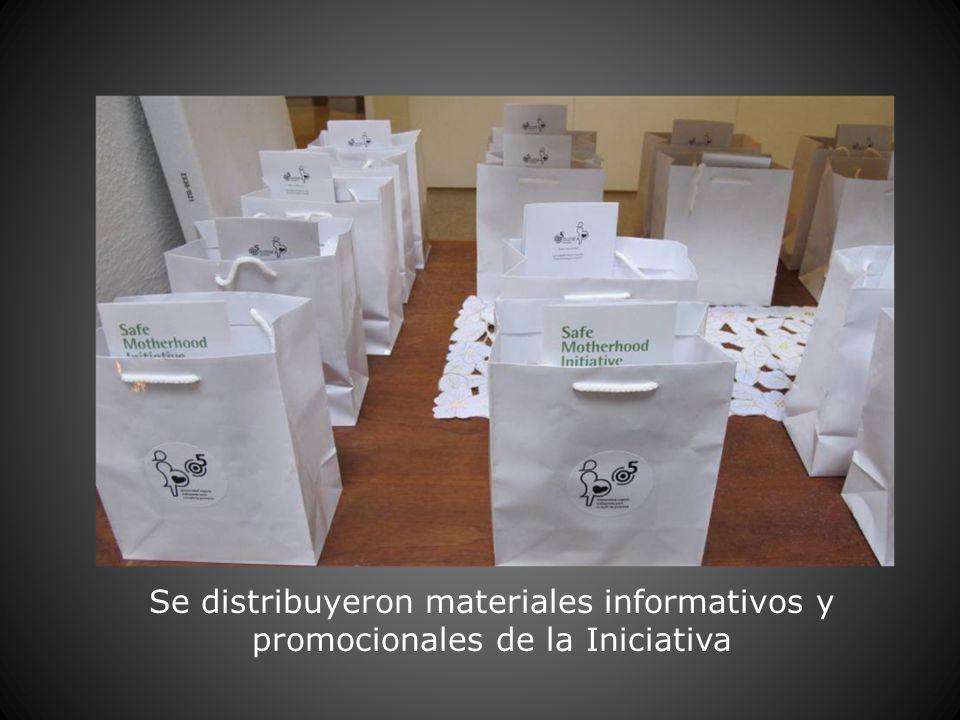Se distribuyeron materiales informativos y promocionales de la Iniciativa