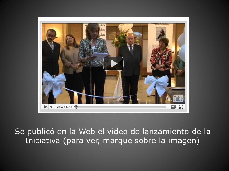 Se publicó en la Web el video de lanzamiento de la Iniciativa (para ver, marque sobre la imagen)