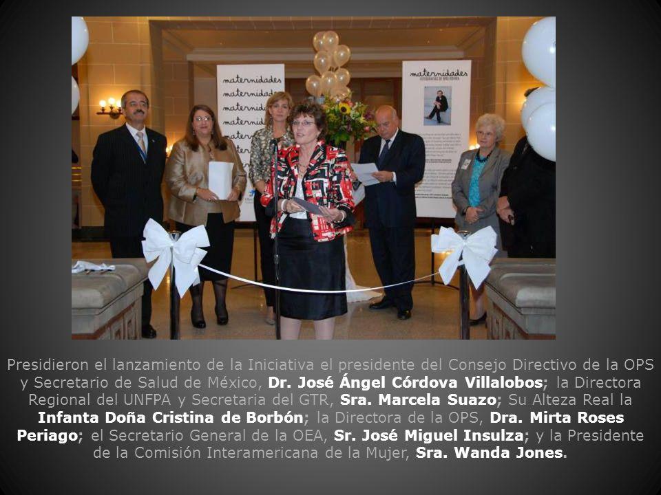 Presidieron el lanzamiento de la Iniciativa el presidente del Consejo Directivo de la OPS y Secretario de Salud de México, Dr. José Ángel Córdova Vill