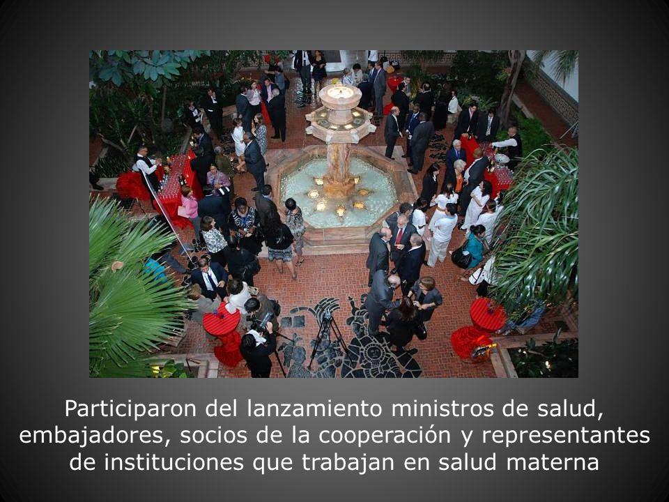 Participaron del lanzamiento ministros de salud, embajadores, socios de la cooperación y representantes de instituciones que trabajan en salud materna