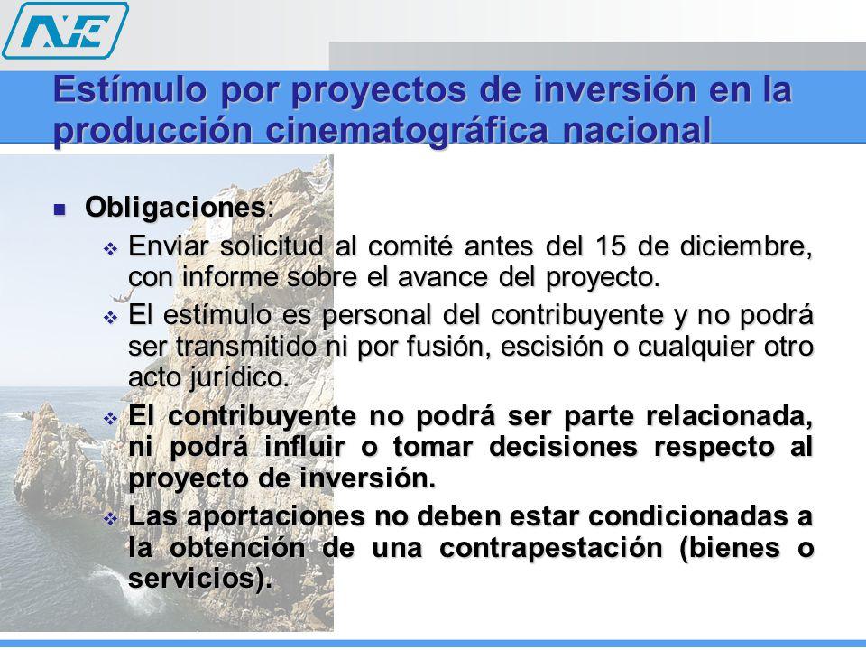 Obligaciones: Obligaciones: Enviar solicitud al comité antes del 15 de diciembre, con informe sobre el avance del proyecto. Enviar solicitud al comité