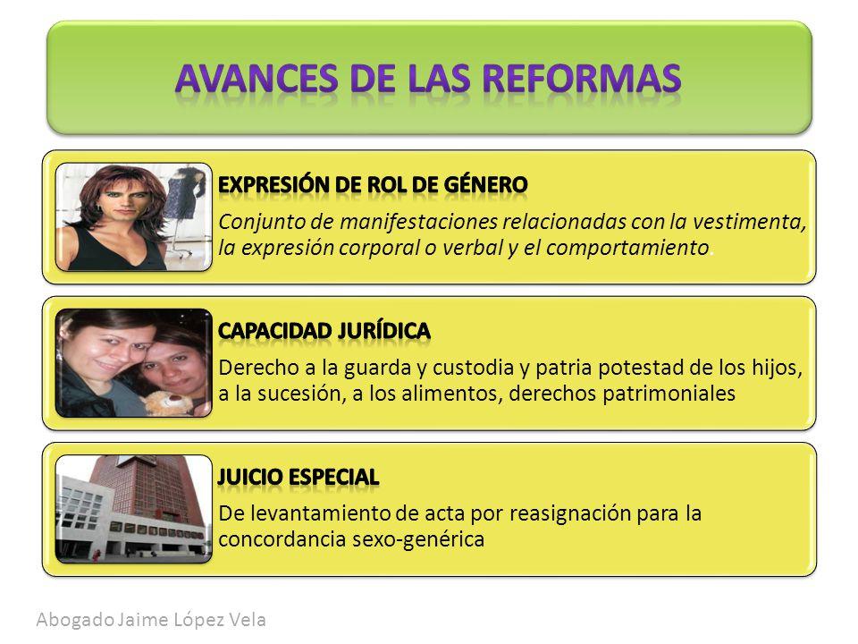Avances de las reformas actuales Abogado Jaime López Vela