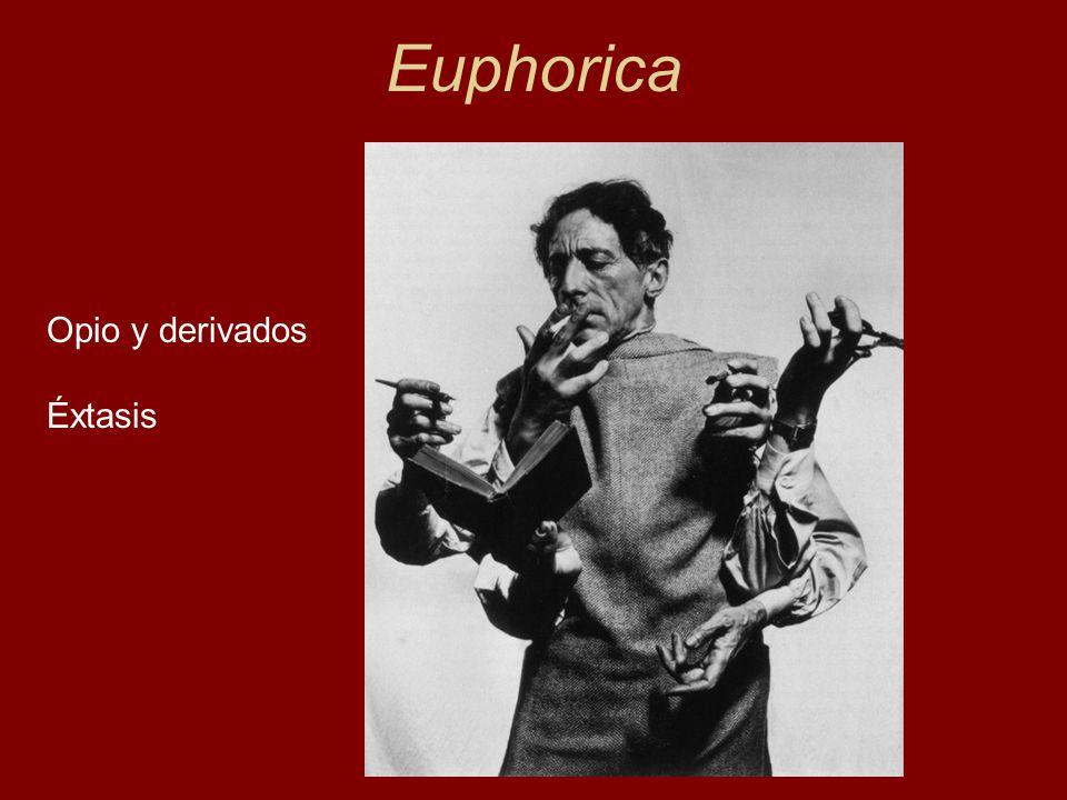 Euphorica Opio y derivados Éxtasis