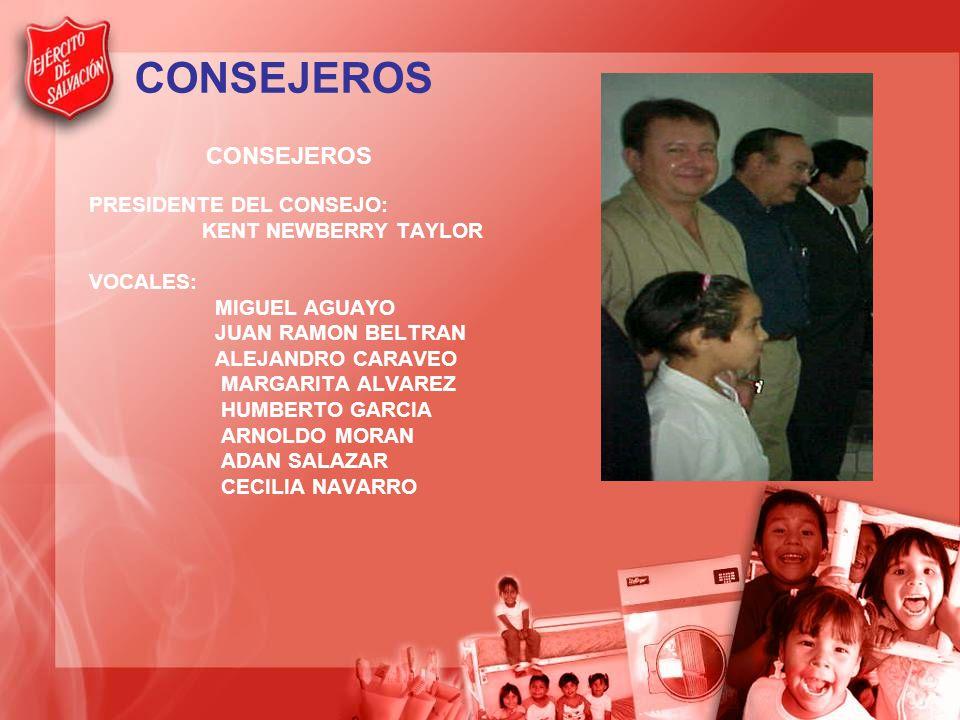 CONSEJEROS PRESIDENTE DEL CONSEJO: KENT NEWBERRY TAYLOR VOCALES: MIGUEL AGUAYO JUAN RAMON BELTRAN ALEJANDRO CARAVEO MARGARITA ALVAREZ HUMBERTO GARCIA ARNOLDO MORAN ADAN SALAZAR CECILIA NAVARRO