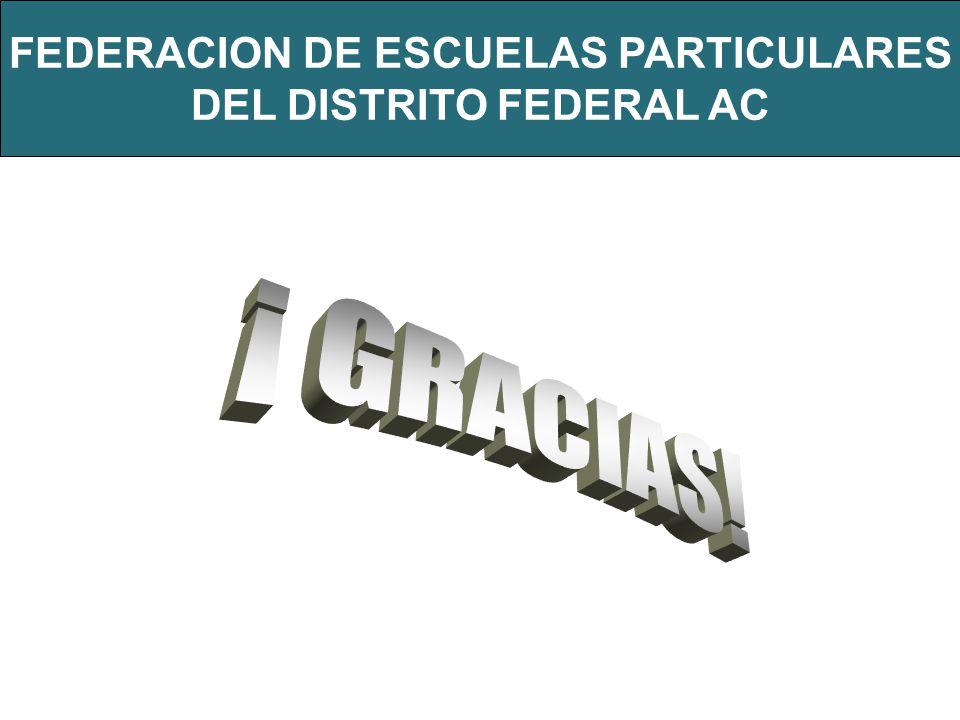 FEDERACION DE ESCUELAS PARTICULARES DEL DISTRITO FEDERAL AC