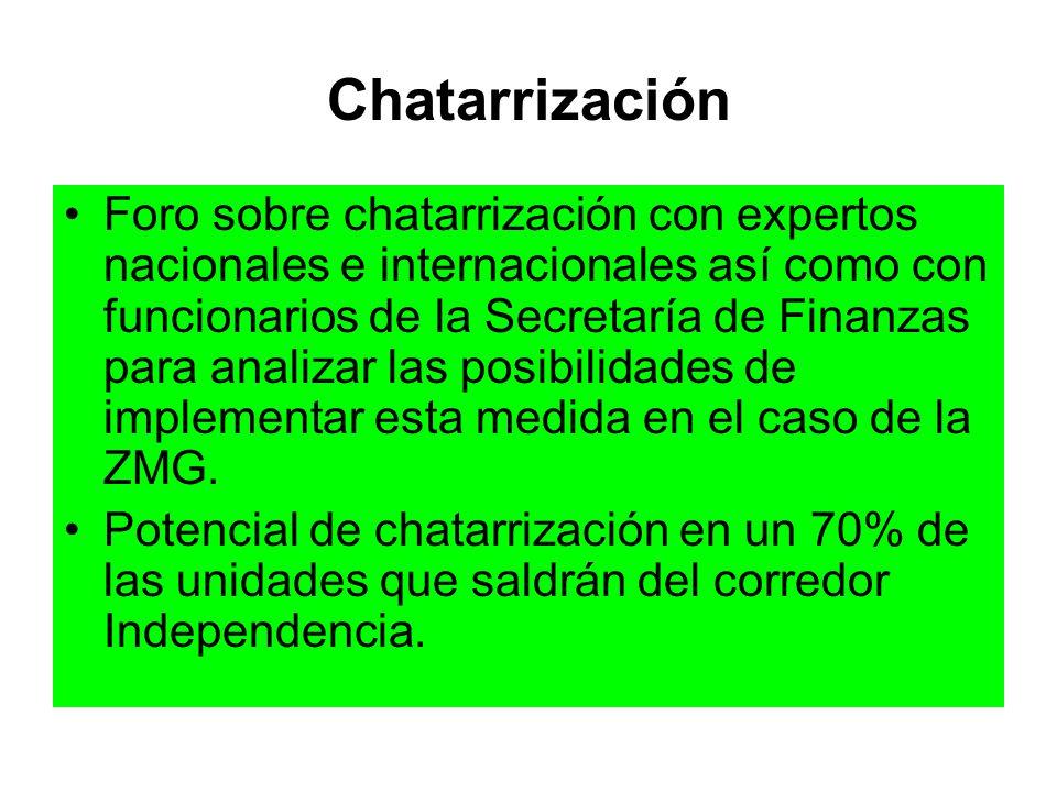 Chatarrización Foro sobre chatarrización con expertos nacionales e internacionales así como con funcionarios de la Secretaría de Finanzas para analiza