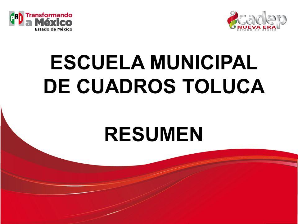 ESCUELA MUNICIPAL DE CUADROS TOLUCA RESUMEN