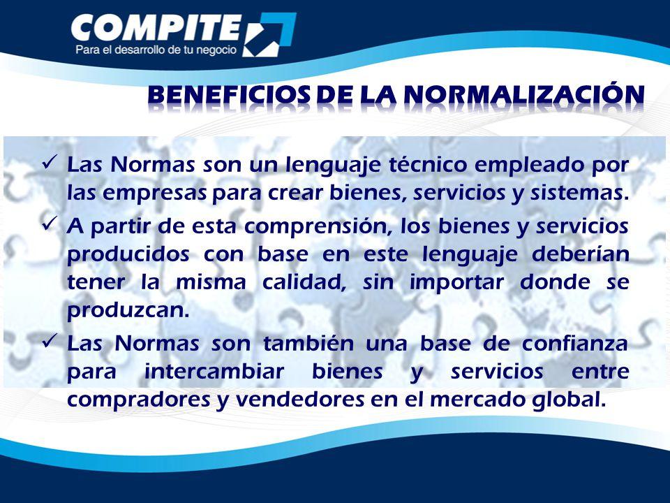 Las Normas son un lenguaje técnico empleado por las empresas para crear bienes, servicios y sistemas. A partir de esta comprensión, los bienes y servi