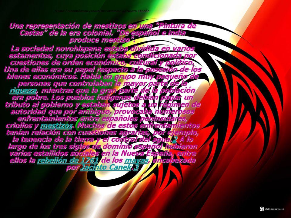 Situación económica y social del virreinato de Nueva España Una representación de mestizos en una