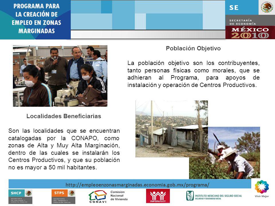 PROGRAMA PARA LA CREACIÓN DE EMPLEO EN ZONAS MARGINADAS http://empleoenzonasmarginadas.economia.gob.mx/programa/ Gráficas 2009