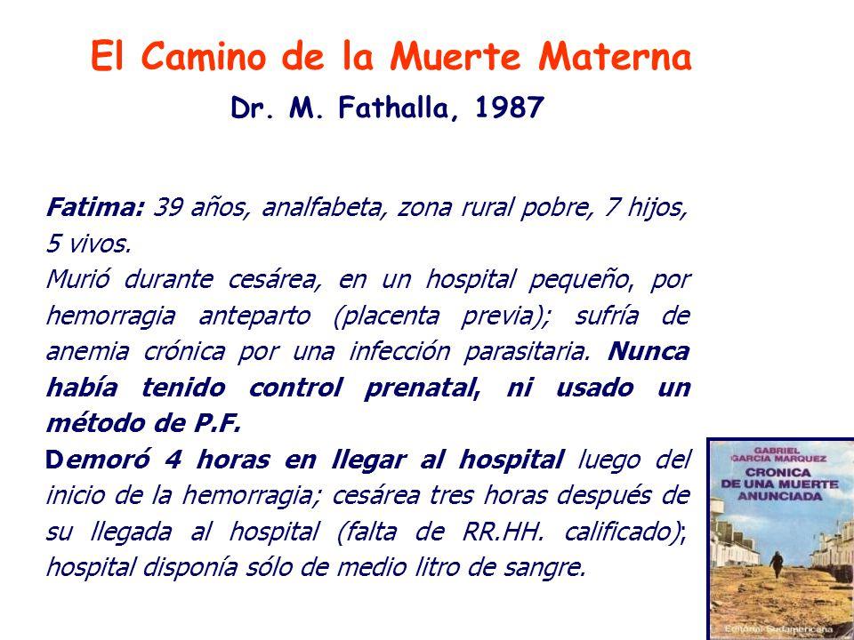 El Camino de la Muerte Materna Dr.M.
