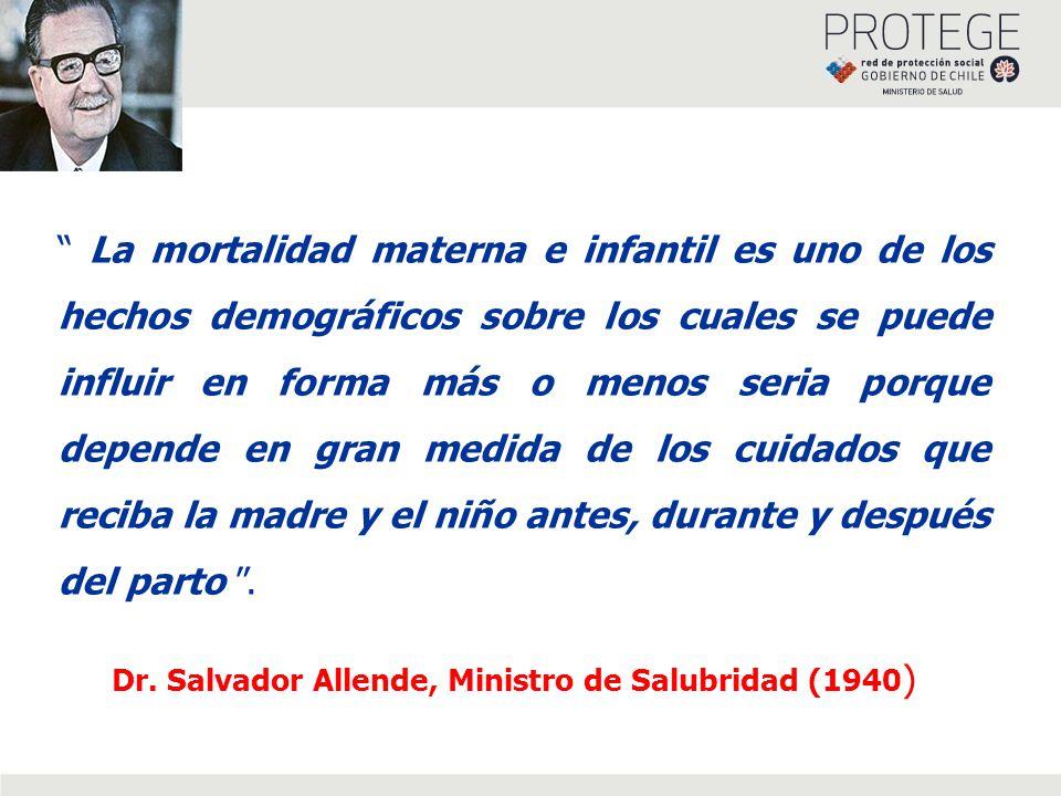 La mortalidad materna e infantil es uno de los hechos demográficos sobre los cuales se puede influir en forma más o menos seria porque depende en gran medida de los cuidados que reciba la madre y el niño antes, durante y después del parto.