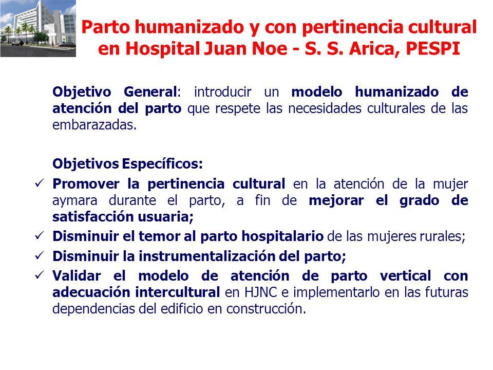 Parto humanizado y con pertinencia cultural en Hospital Juan Noe - S.