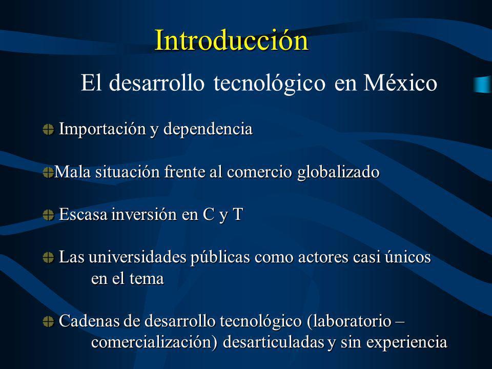 Introducción Importación y dependencia Importación y dependencia Mala situación frente al comercio globalizado Escasa inversión en C y T Escasa invers