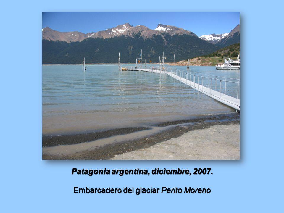 Patagonia argentina, diciembre, 2007. Embarcadero del glaciar Perito Moreno