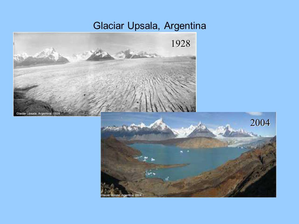 Glaciar Upsala, Argentina 1928 2004
